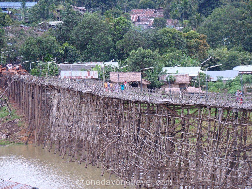 Sangklaburi Thaïlande pont