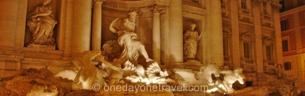 Visiter Rome et la Fontaine de Trevi