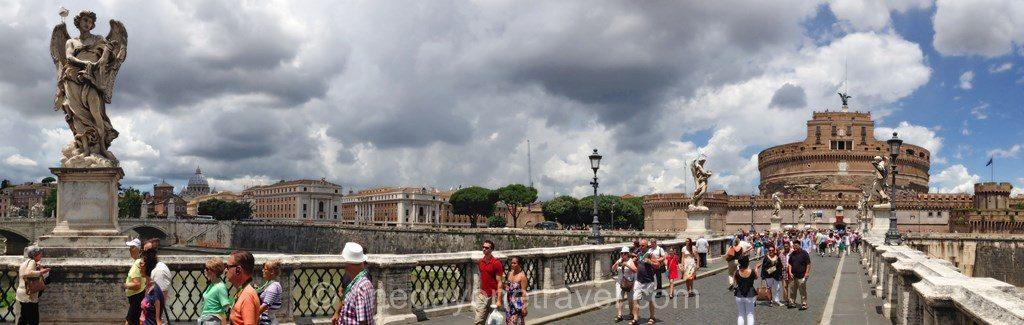 Visiter Rome et le Pont Saint Ange