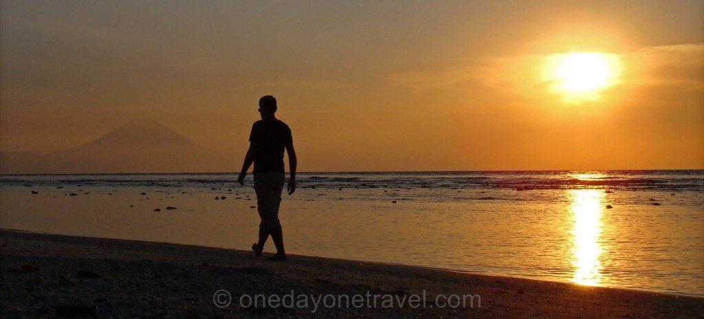 Coucher de soleil sunset Gilis Indonésie