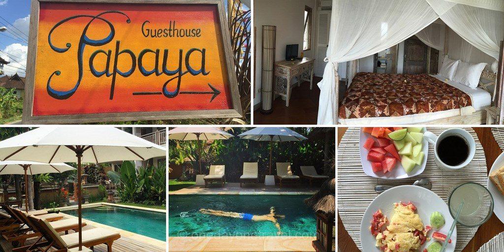 Papaya guesthouse Canggu Bali Indonésie