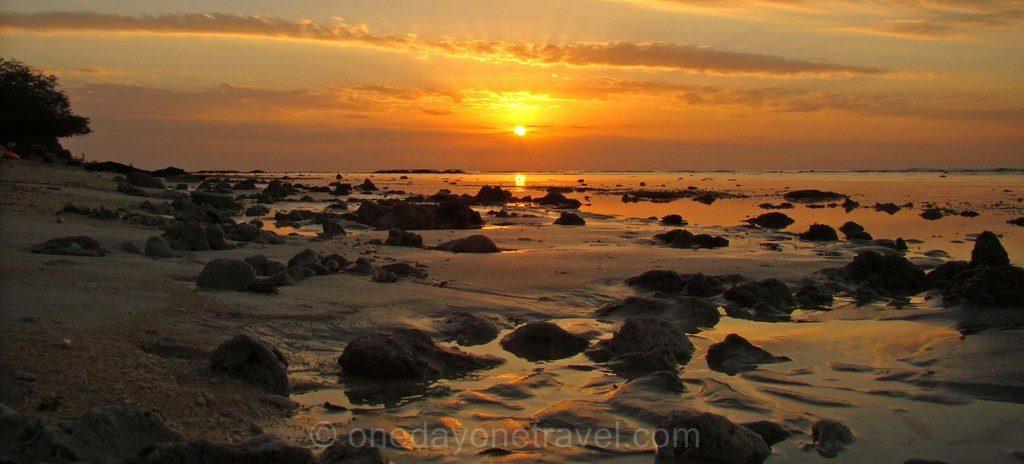 Coucher de soleil Gili T Bali