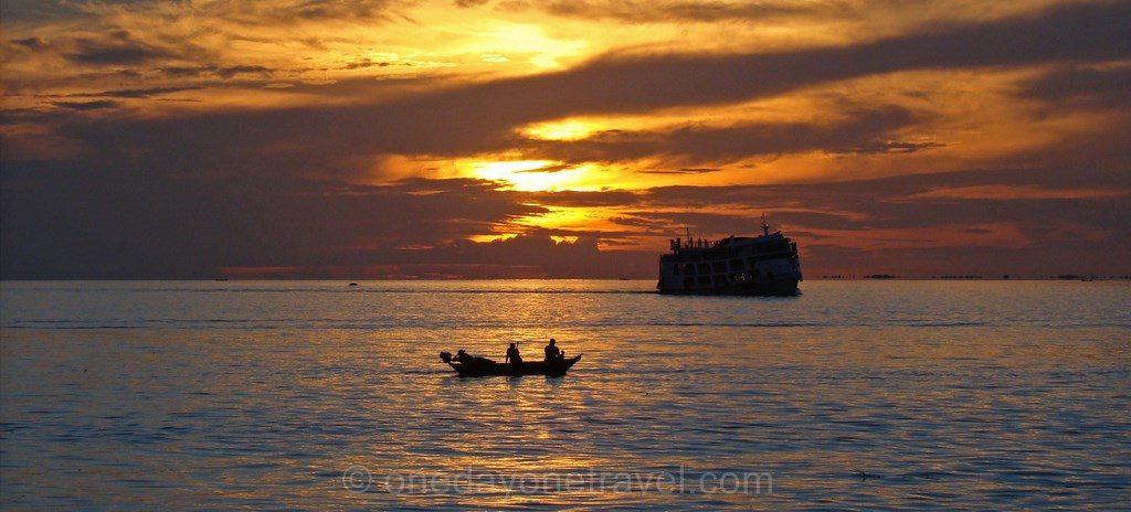 Coucher de soleil Amazonie Santarem