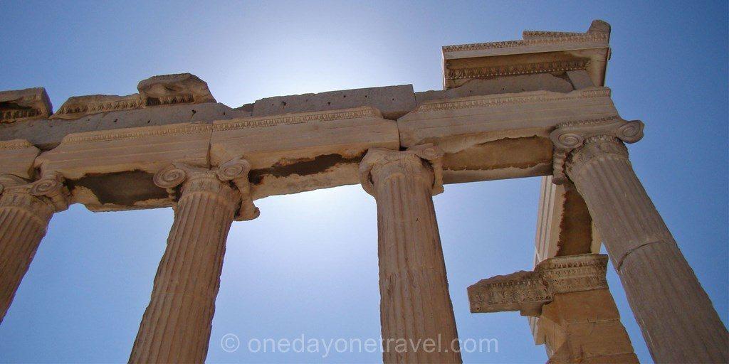 Visiter Athènes Acropole Parthenon colonne