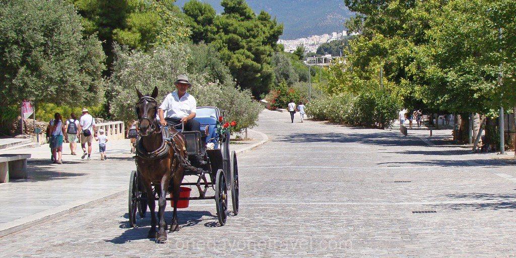 Athènes Acropole promenade antique