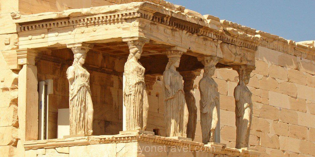Athènes Acropole statue temple