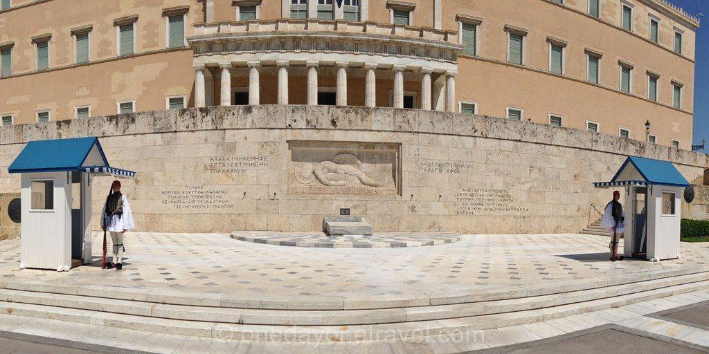 Visiter Athènes relève garde parlement
