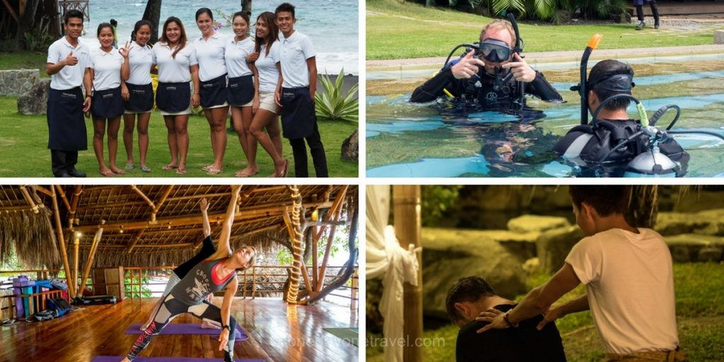 Atmosphere resort team activités Philippines