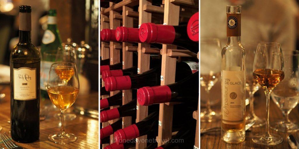 Auberge Morency Laurentides vin de glace