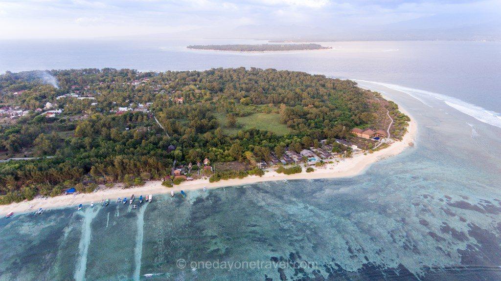 Gili Meno vue du ciel Indonésie drone