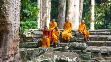 Bayon Ankor temple bonze Cambodge
