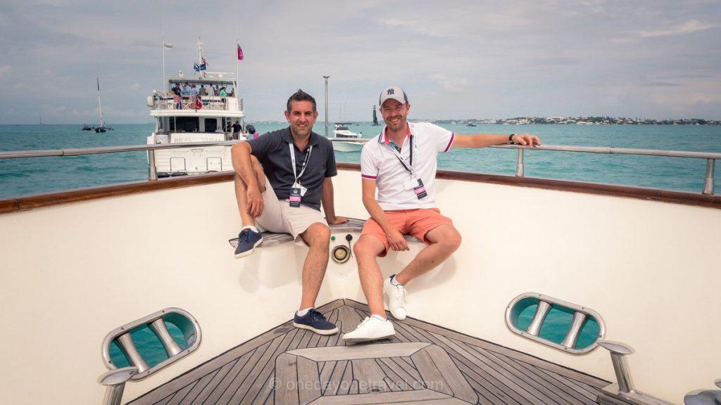 Franck et Richard aux Bermudes