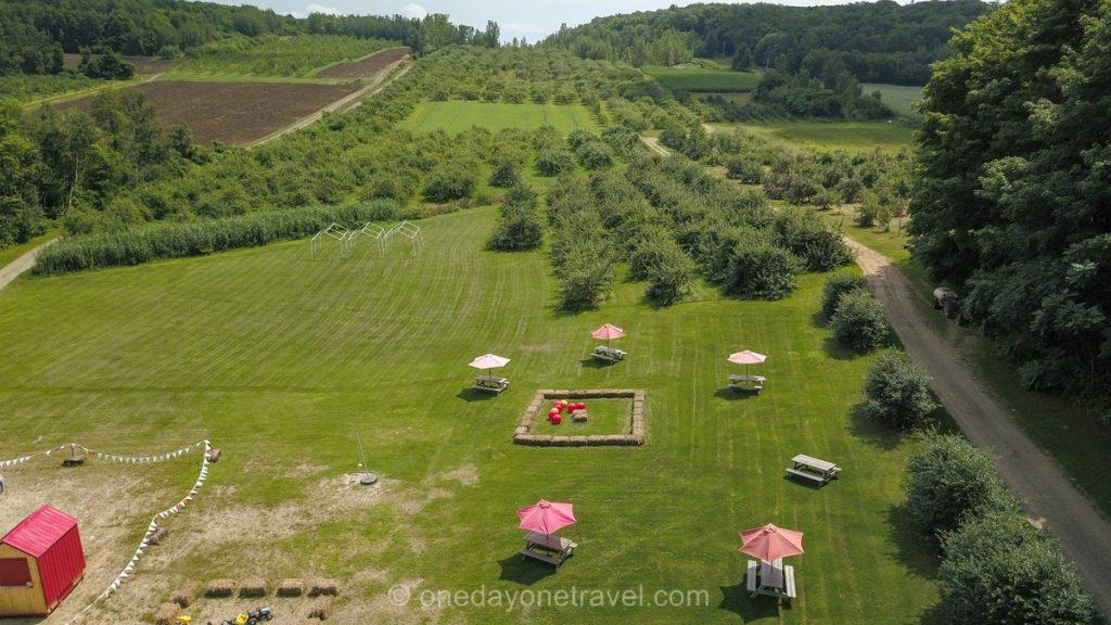 Bonte Pomme Laurentides chemin du terroir drone