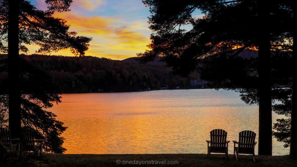 Road trip au Québec - sunset lac