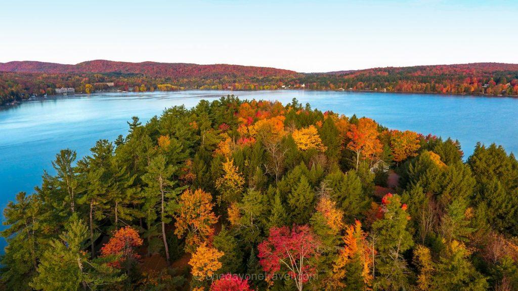 Cantons de l'est automne Québec drone