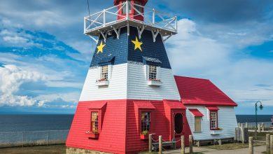 Caraquet Nouveau-Brunswick Canada drapeau phare