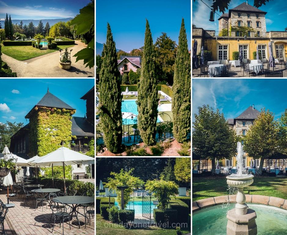 Château de Candie Chambéry _ Jardin piscine - Séjour en Savoie