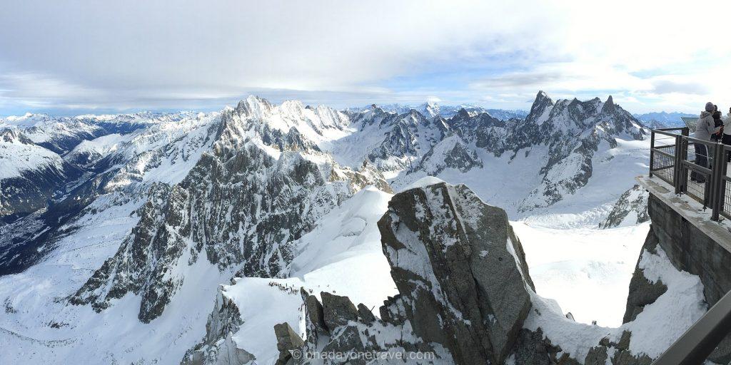 Panorama depuis l'aiguille du Midi - Chamonix