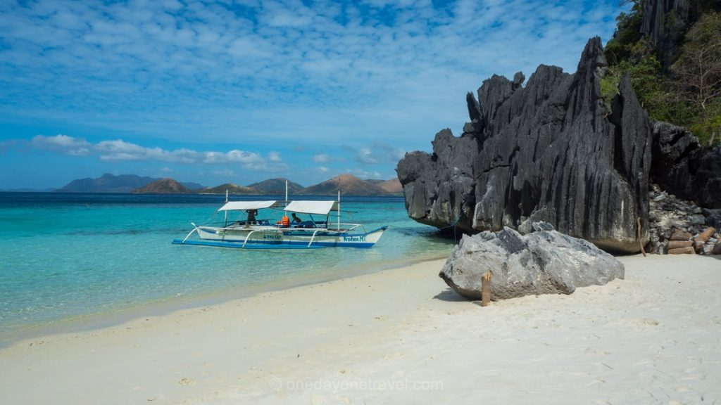 Coron plage sable blanc Philippines