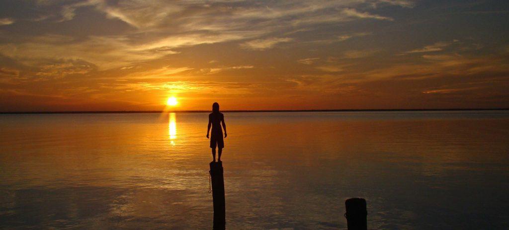Coucher de soleil Amazonie Alter do Chao