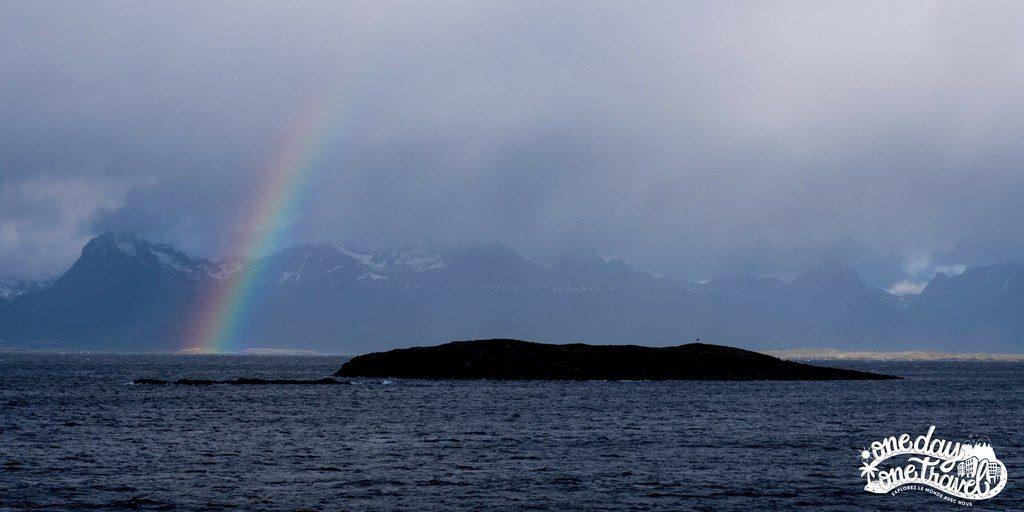 Croisière terre de feu Patagonie arc en ciel
