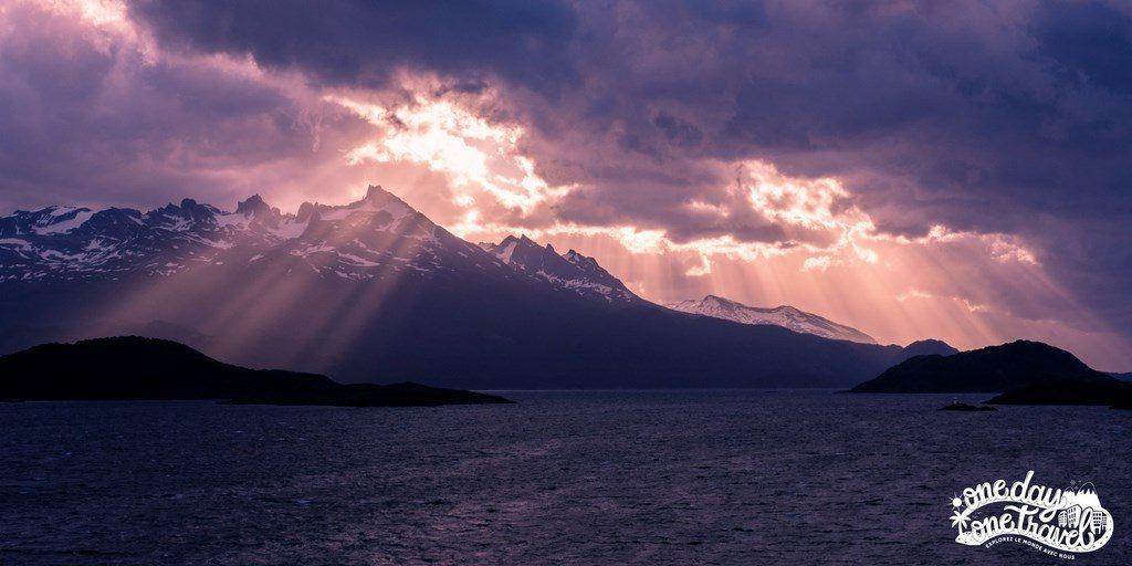Croisière terre de feu Patagonie coucher de soleil