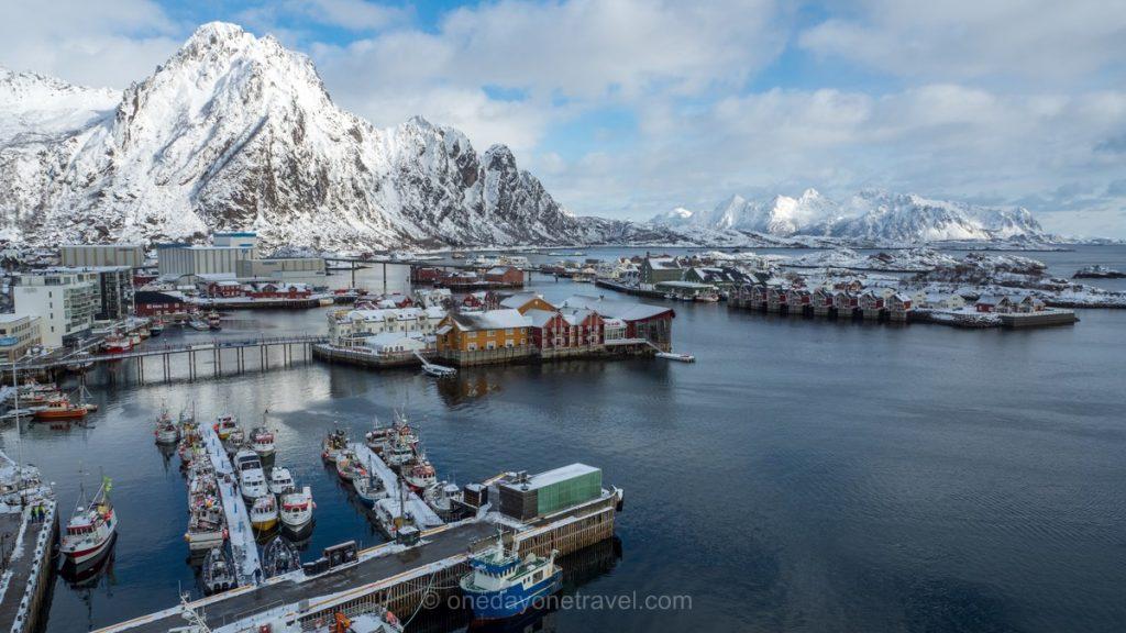 destinations paradisiaques Vue sur les iles Lofoten Norvège
