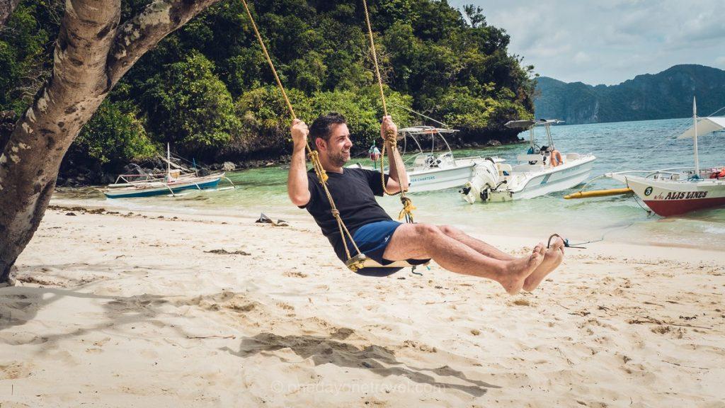 El Nido Island Hopping franck plage balançoire