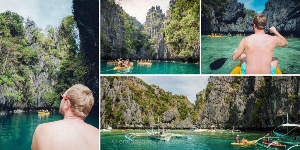 El Nido big lagoon kayak philippines