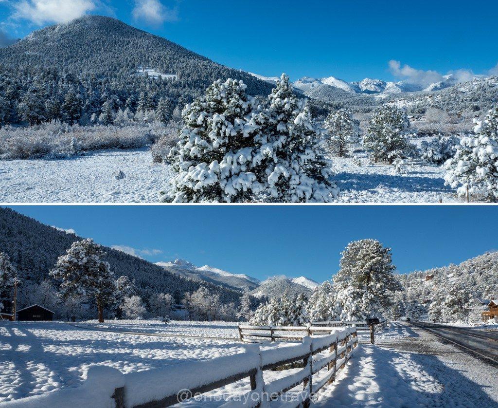 Estes Park Rocheuses hiver neige