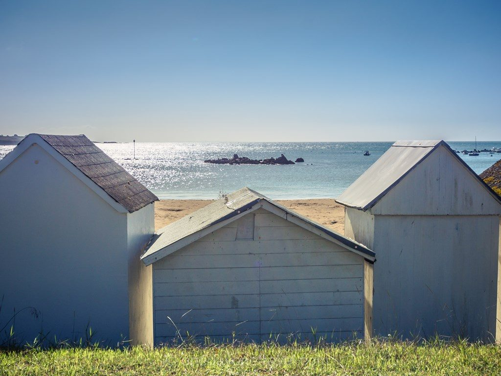 Finistere Bretagne cabines de plage