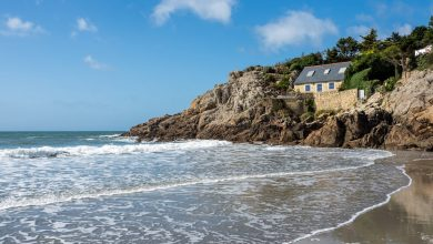 Finistere Bretagne plage anse Rospico