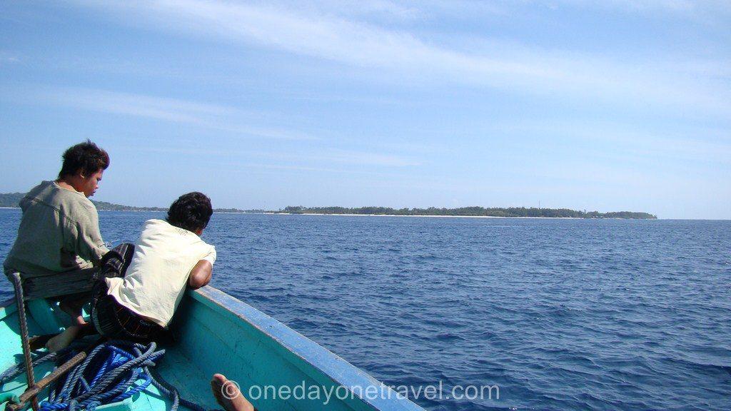 Gili Trawangan vue depuis bateau