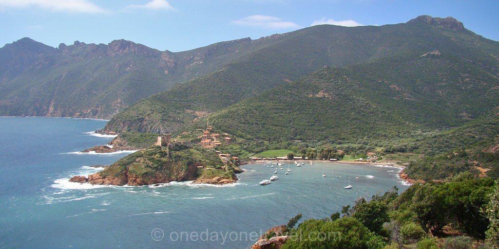 Girolata Corse vue du chemin