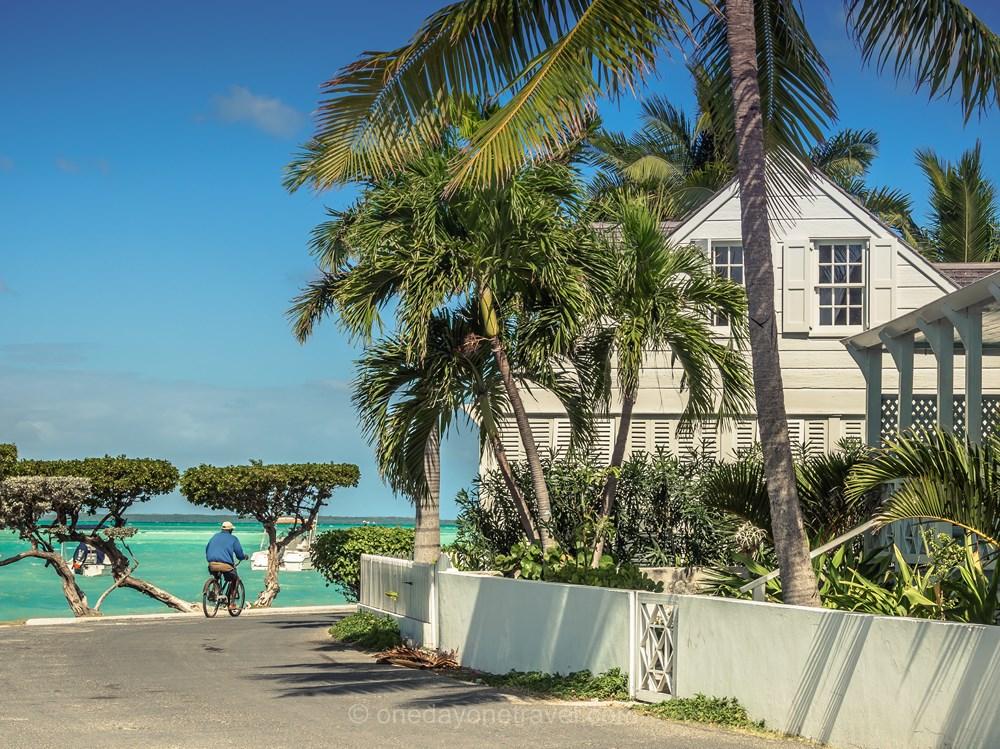 Voyage aux Bahamas Harbour island architecture vélo