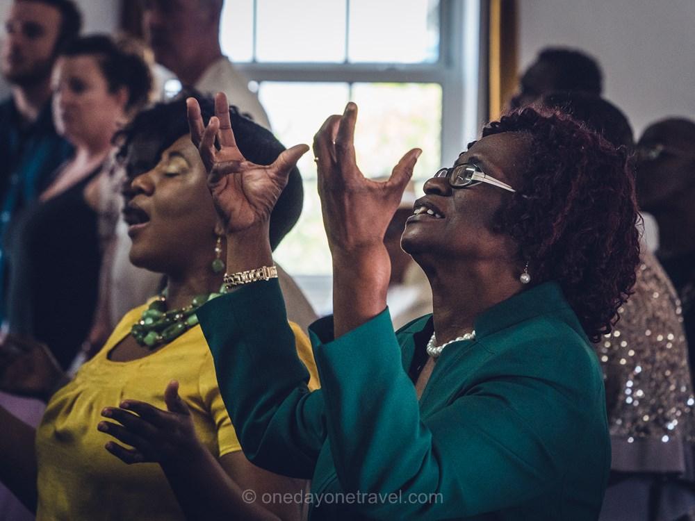 voyage aux bahamas Harbour island gospel messe