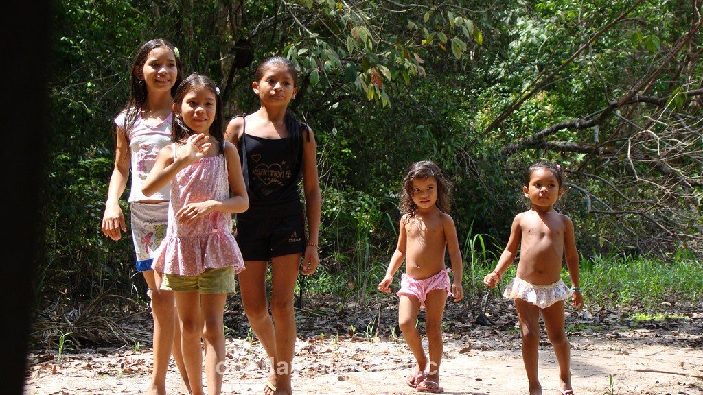 Jamaraqua Tapajos Amazonie famille