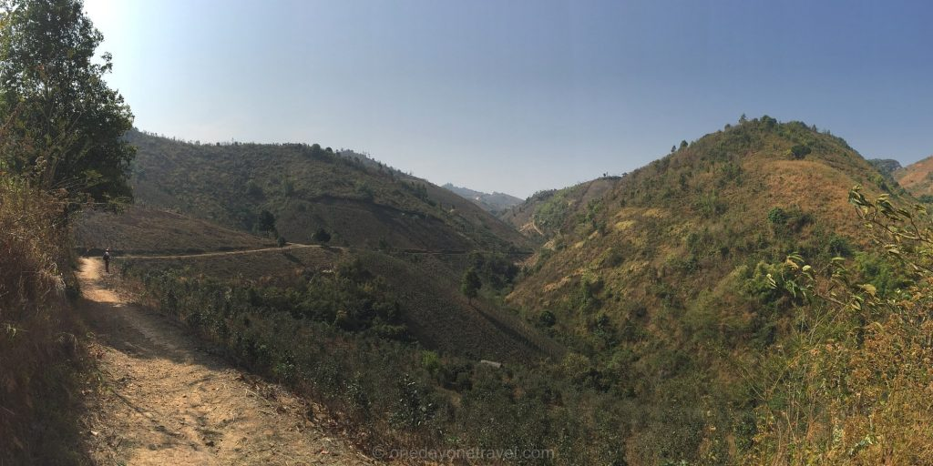 Kalaw trek randonnée collines birmanes