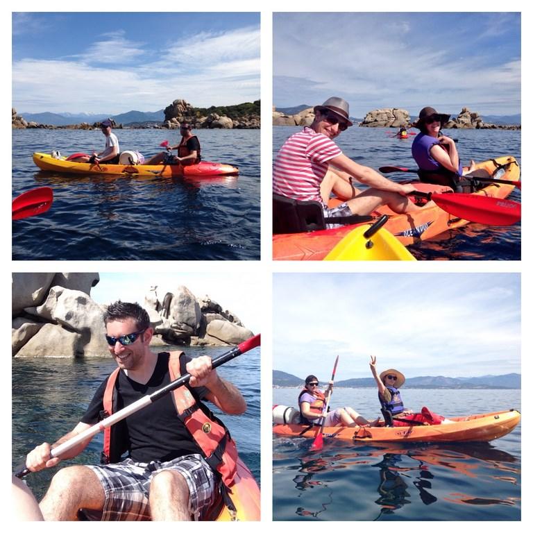 Kayak de mer Corse du sud