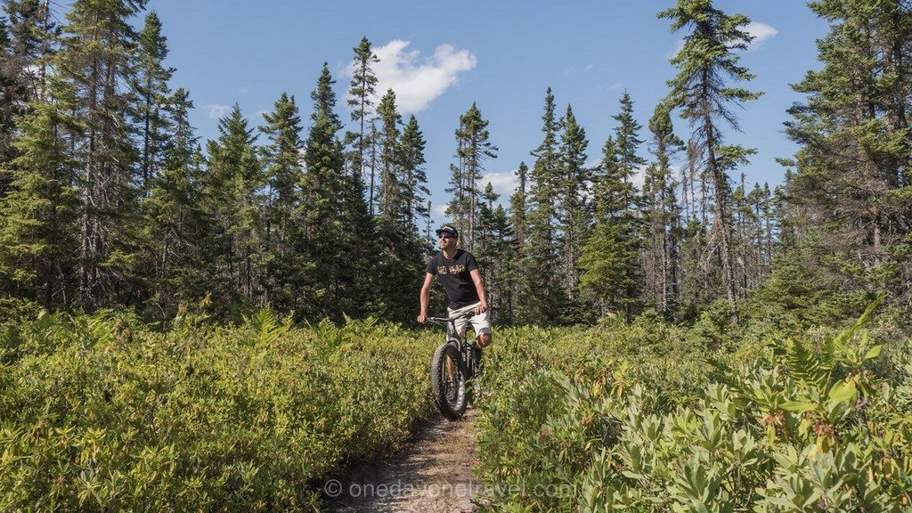 Kouchibouguac Nouveau Brunswick Canada fat bike richard