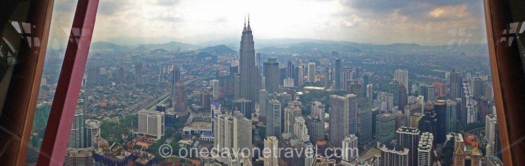 Kuala Lumpur Petronas towers vue