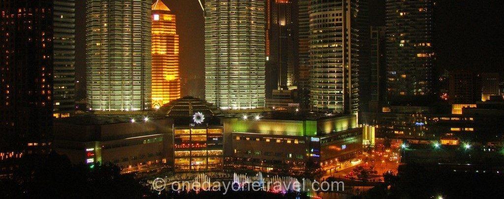 Kuala Lumpur Petronas towers blog voyage nuit