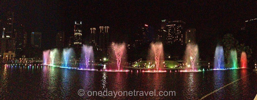 Kuala Lumpur traders fontaine nuit blog voyage