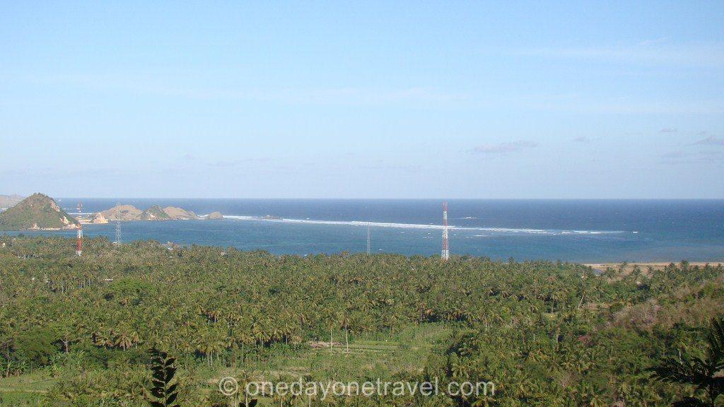 Kuta Lombok vue de haut