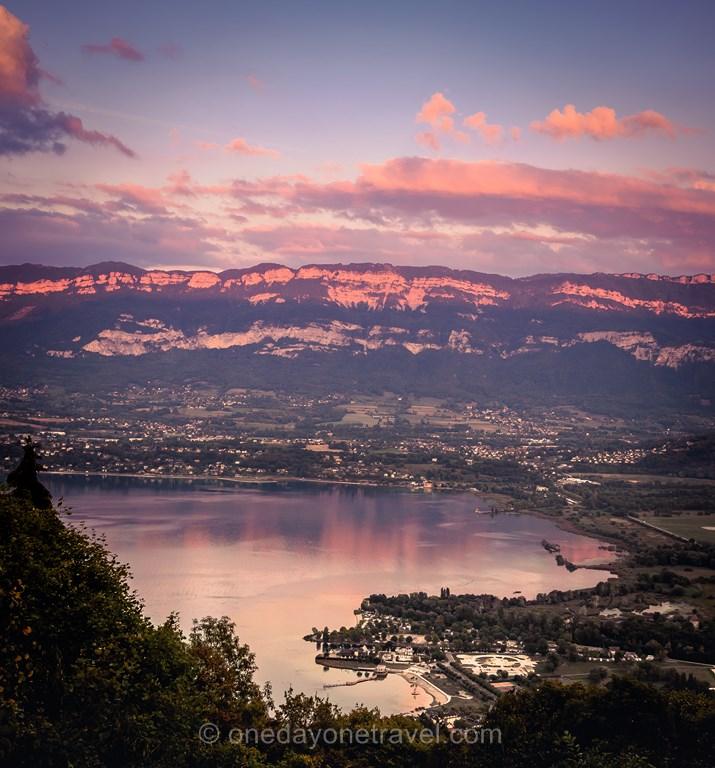 Lac Bourget sunset Alpes Savoie