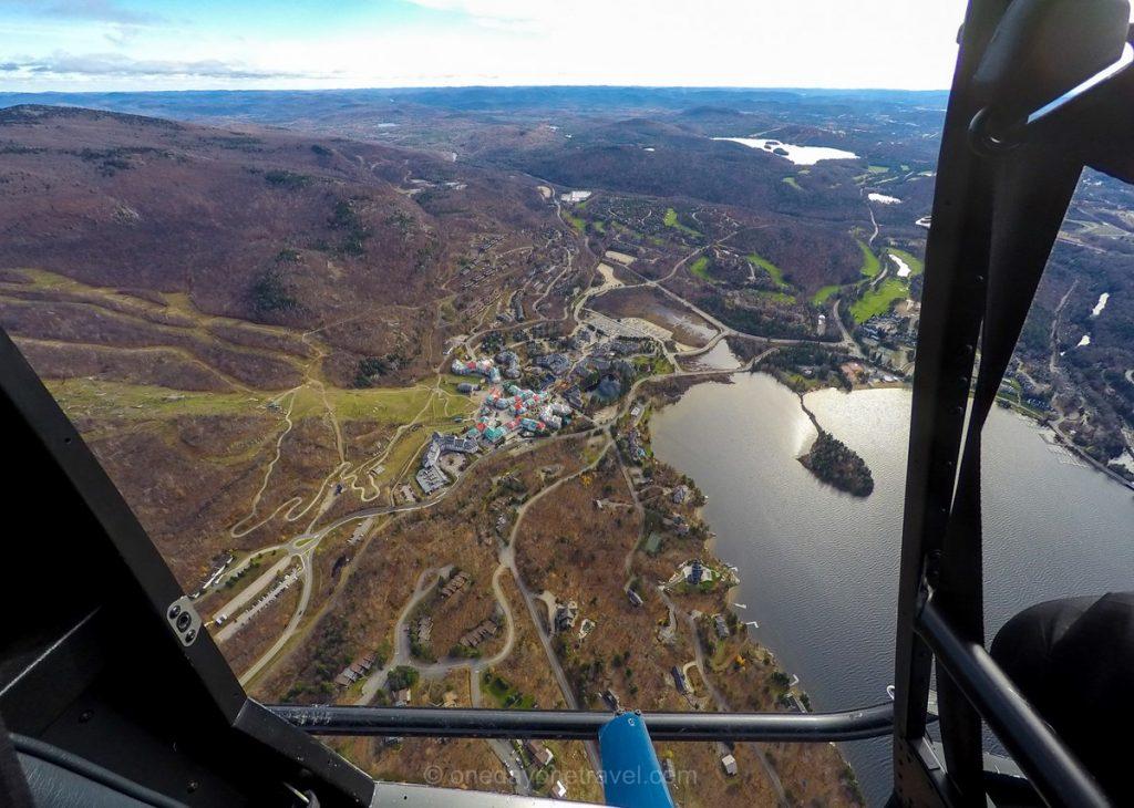Mont Tremblant Visiter les Laurentides vue hélicoptère