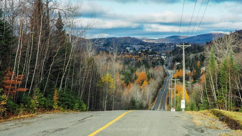 Visiter les Lanrentides route road trip Québec