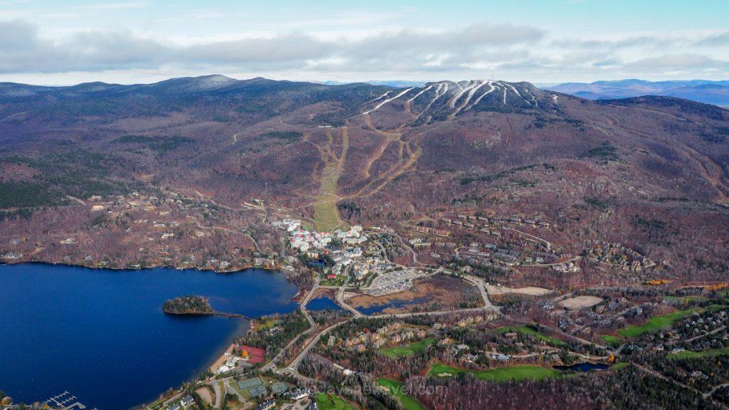 Mont Tremblant Québec vue hélicoptère