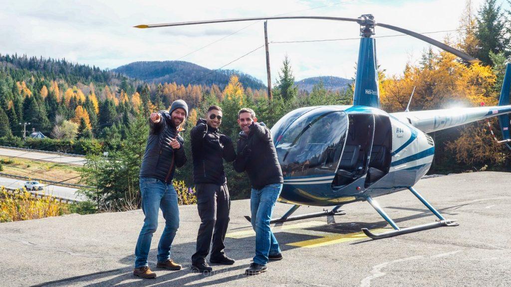 Mont Tremblant Québec pilote hélicoptère