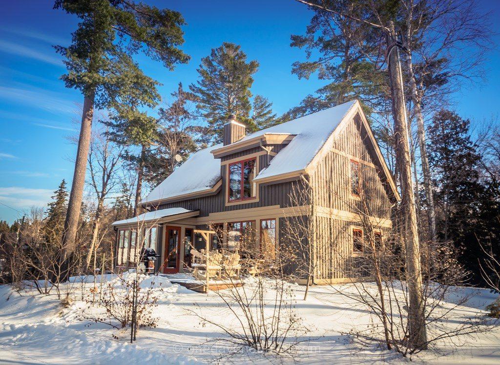 Laurentides hiver Windigo chalet Québec